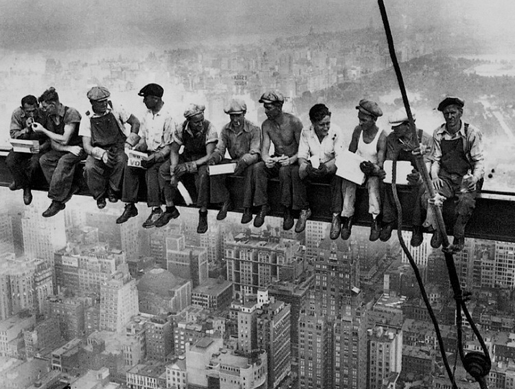 Lunch Atop a Skyscraper, c.1932 by Charles Ebbets