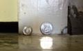 Quarter dime size holes